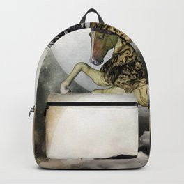 Awesome fantasy horse with skulls Backpack