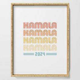 Kamala 2024 - Vintage Retro Sunset Serving Tray