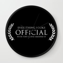 OFFICIAL Wall Clock