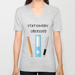 Stationery Obsessed Unisex V-Neck