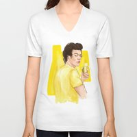 coconutwishes V-neck T-shirts featuring Harry is all yellow by Coconut Wishes