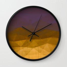 Imperial Citrine - Geometric Triangles Minimalism Wall Clock