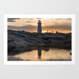 Peggys Point sunset walk Art Print