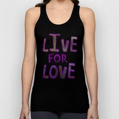 Live for Love Unisex Tank Top