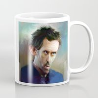 house md Mugs featuring house md by robotrake