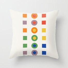 Chevreul Laws of Contrast of Colour, Plate VI, 1860, Remake Throw Pillow