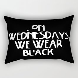 On Wednesday We Wear Black Rectangular Pillow