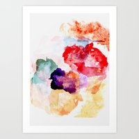 watercolour Art Prints featuring Watercolour  by ABE KAWAII
