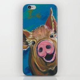 Colorful Pig Art, Pig painting of 'Wilbur' iPhone Skin
