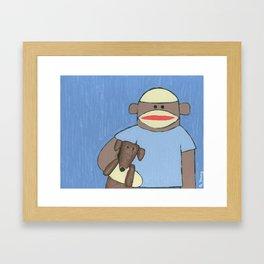 Sock Monkey 69 Framed Art Print