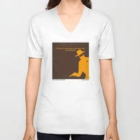 lawyer V-neck T-shirts featuring No202 My The Lone Ranger minimal movie poster by Chungkong
