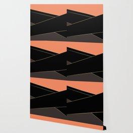 Angelica . Coral , black , brown Wallpaper