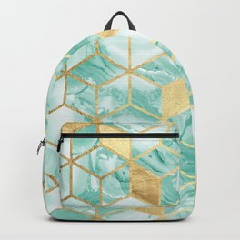 Gold and crystal mosaic Backpack