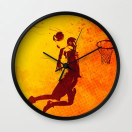 Heat of Basketball#2 Wall Clock