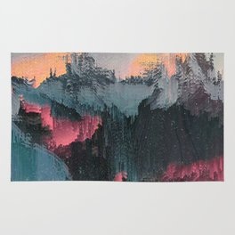 Glitched Landscapes Collection #1 Rug