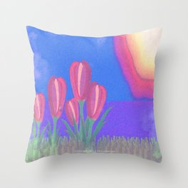FLOWERS IN THE SUN V3 - 023 Throw Pillow