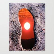 Footprints in Spacetime Canvas Print