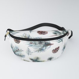 Christmas pattern, pinecones & meddle branches pattern Fanny Pack