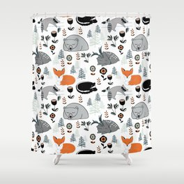 Woodland Nap Time Shower Curtain
