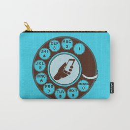 Dial numbers with analoque mobile Carry-All Pouch