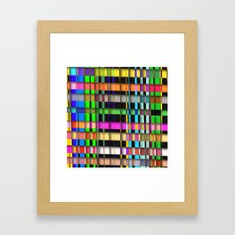 inclined coloured stripes with shadows Framed Art Print