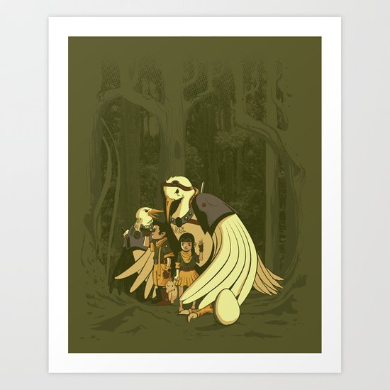 Aviary Adoption Art Print