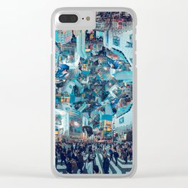 Shibuya Crossing, Repeating Mosaic Pattern 49 Clear iPhone Case