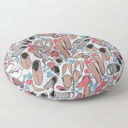 Shoe lover tattoos Floor Pillow