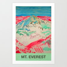 Mt Everest Art Print