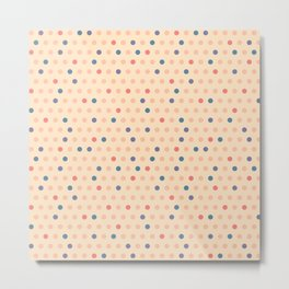 Retro Polka Dot Metal Print