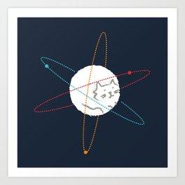 Cat-ion Art Print