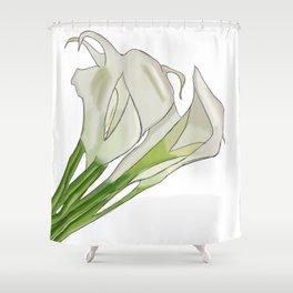 Lillies Love Shower Curtain