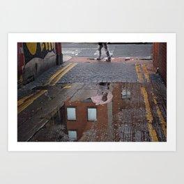 Dublin lane reflections Art Print