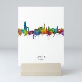 Sevilla Spain Skyline Mini Art Print