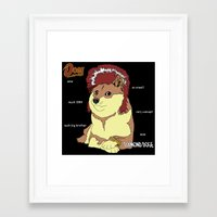 doge Framed Art Prints featuring Diamond Doge by merimeaux