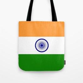 India: Indian Flag Tote Bag