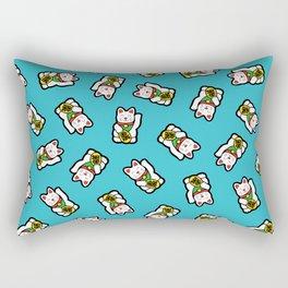 Lucky Cat Pattern Rectangular Pillow