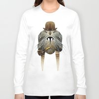 walrus Long Sleeve T-shirts featuring walrus by Manoou