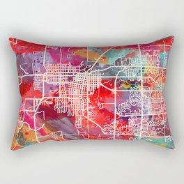 Bartlesville map Oklahoma OK 2 Rectangular Pillow