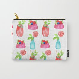 summertime pattern with sweet deserts Carry-All Pouch