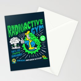 Radioactive Gym Stationery Cards