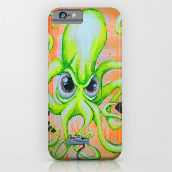 Video Game Playing Octopus iPhone & iPod Case