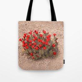 Sandia Cactus Flowers Tote Bag