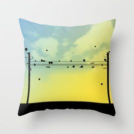 Digital Cords Throw Pillow