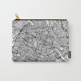 Paris Map White Carry-All Pouch