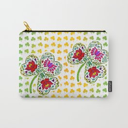 Flowery Shamrock Carry-All Pouch