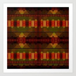 """Full Colors Tribal Pattern"" Art Print"