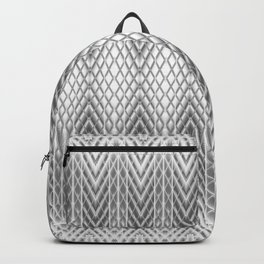 Cool Silver Grey Frosted Geometric Design Backpack