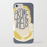 prometheus iPhone & iPod Cases featuring Prometheus by SleptAwoke