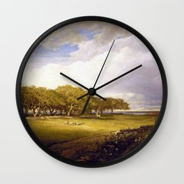 William Trost Richards Old Orchard at Newport Wall Clock